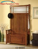 Accent Tables Hall Tree with Storage Bench & Side Hooks by Coaster Furniture
