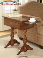 Accent Tables Warm Brown Chairside Table with 1 Drawer by Coaster Furniture