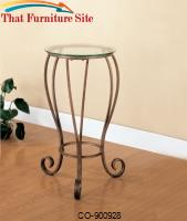 Accent Stands Round Plant Stand with Curved Feet by Coaster Furniture