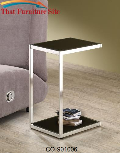 Accent Tables Rectangular Snack Table with Reversible Black & White Sh