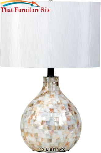 Table Lamps Mosaic Look Table Lamp by Coaster Furniture  | Austin