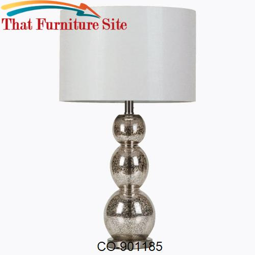 Table Lamps Metallic Finish Table Lamp by Coaster Furniture  | Austin