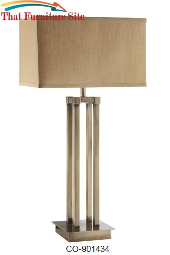 Table Lamps Contemporary Table Lamp with Linen Shade by Coaster Furnit