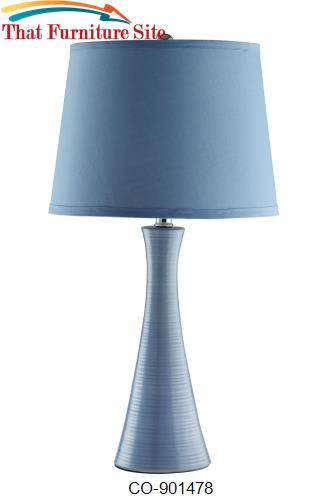 Table Lamps Blue Ceramic Table Lamp By Coaster Furniture Austin