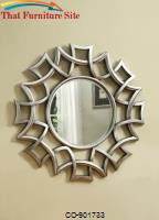 Accent Mirrors Starburst Accent Mirror in Silver Finish by Coaster Furniture