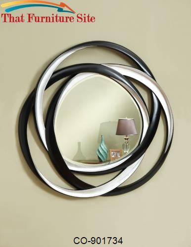 Accent Mirrors Two-Tone Contemporary Mirror by Coaster Furniture  | Au