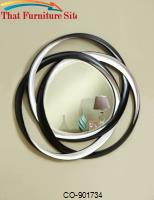 Accent Mirrors Two-Tone Contemporary Mirror by Coaster Furniture