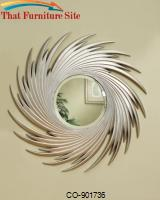 Accent Mirrors Round Spiral Mirror by Coaster Furniture