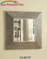 Accent Mirrors Square Droplet Frame Mirror in Silver Finish by Coaster Furniture