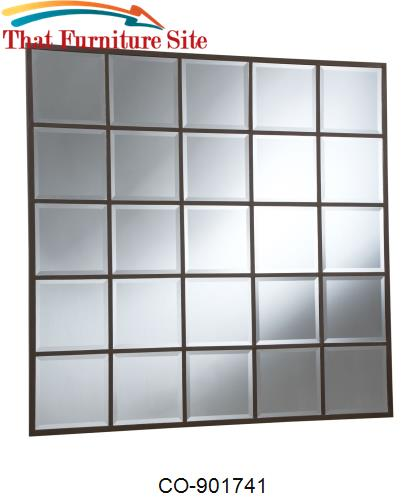 Accent Mirrors Square Grid Mirror by Coaster Furniture  | Austin