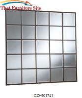 Accent Mirrors Square Grid Mirror by Coaster Furniture