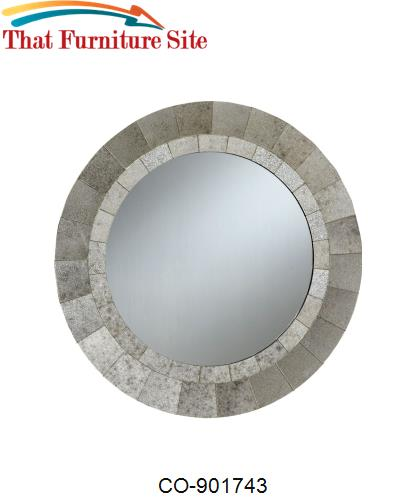 Accent Mirrors Round Mirror with Mottled Frame by Coaster Furniture  |