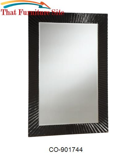 Accent Mirrors Modern Accent Mirror with High Gloss Black Frame by Coa
