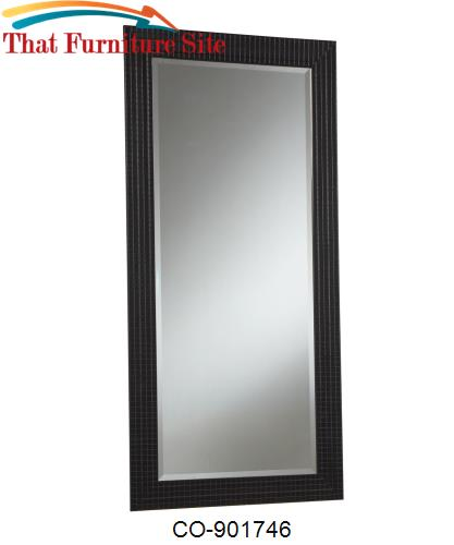 Accent Mirrors Black Mirror with Quilted Look Frame by Coaster Furnitu
