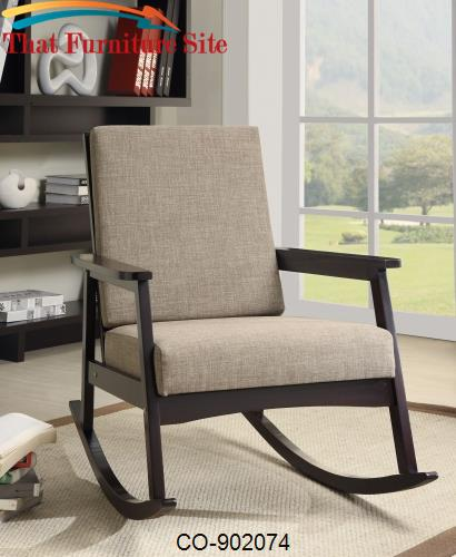 Terrific Rockers Casual Rocking Chair With Padded Back By Coaster Beatyapartments Chair Design Images Beatyapartmentscom