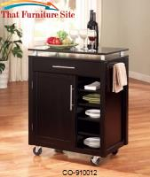 Kitchen Carts 1 Drawer Compact Kitchen Cart with 6 Shelves & Casters by Coaster Furniture