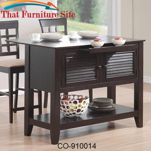 Kitchen Carts Kitchen Station with Drop Down Leaf by Coaster Furniture