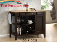 Kitchen Carts Kitchen Cart with Butcher Block Top by Coaster Furniture