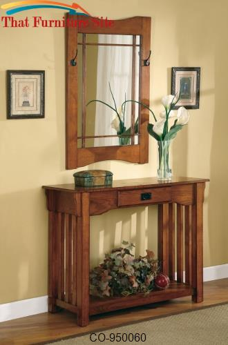 Accent Tables Mission Style Accent Table & Framed Mirror Set by Coaste