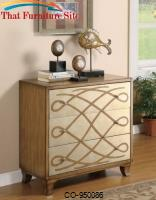 Accent Cabinets Scroll Front Accent Cabinet by Coaster Furniture