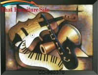 Music Music Hand Painted Oil On Canvas by Coaster Furniture