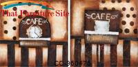 Coffee  Time  2 Piece Hand Painted Oil On Canvas by Coaster Furniture