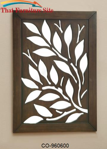 Accent Mirrors Branch Overlay Mirror with Slide Out Panel by Coaster F