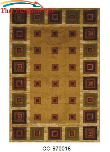 Cabin Blocks Rug by Coaster Furniture  | Austin