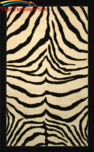 Zebra  Safari  Rug by Coaster Furniture  | Austin
