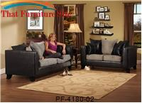 Jefferson Black/ Grey Love Seat by Pfc Furniture Industries