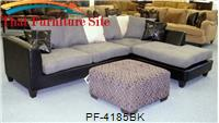 Jefferson Black/Grey Sectional by Pfc Furniture Industries