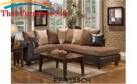Jefferson Chocolate Sectional by Pfc Furniture Industries