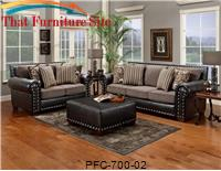 Avanti Black Combo Love Seat by Pfc Furniture Industries