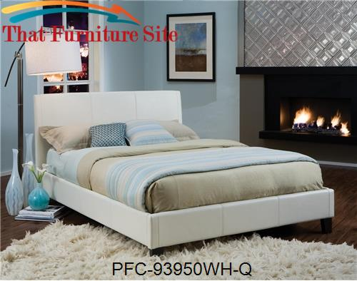 Ivory Bicast Queen Platform Bed by Pfc Furniture Industries  | Austin