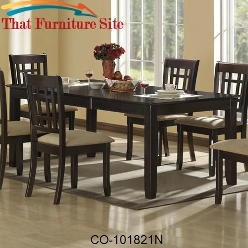 "Coaster Lexton 101561 Rectangular Dining Table With 18: Baldwin Dining Table With 18"" Leaf By Coaster Furniture"