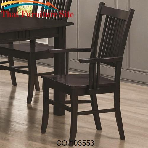 Mission Style Furniture Austin Tx: Marbrisa Slat Back Mission Arm Chair By Coaster Furniture