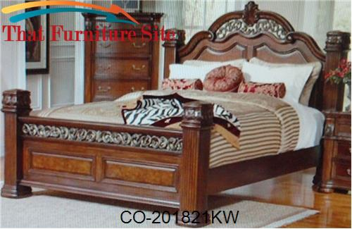 California King Size Poster Bed By Coaster Furniture Austin