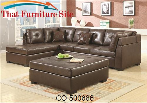 Darie leather sectional sofa with left side chaise by for Darie leather sectional sofa