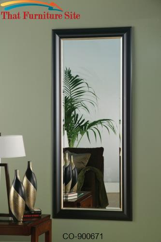 Accent mirrors black silver framed floor mirror by for Silver framed floor mirror