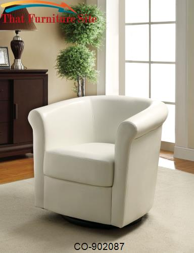 Seating Barrel Back Swivel Accent Chair