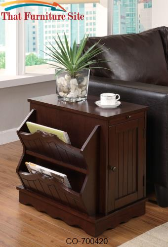 Accent Cabinets Cherry Cabinet Table With Magazine Rack